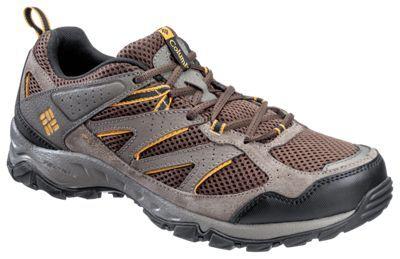 Columbia Plains Ridge Hiking Shoes for Men - Cordovan/Squash - 11.5 W