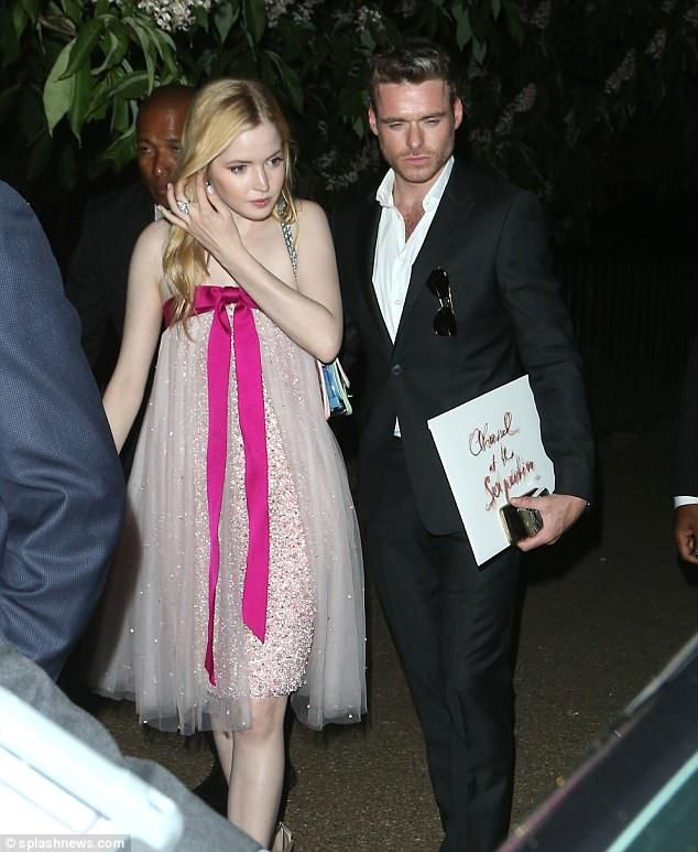 0a872c086af Couple retreats  Richard Madden and girlfriend Ellie Bamber put on a  loved-up display as t.