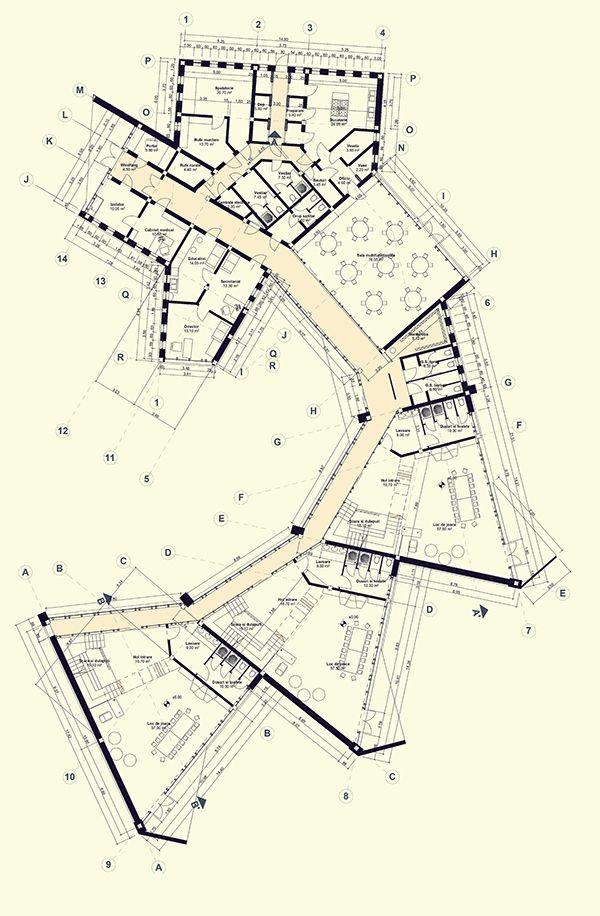 Tangram Kindergarten On Behance Architecture Concept Diagram Concept Architecture School Architecture