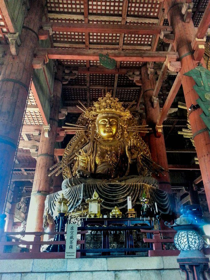 Todai-ji Temple  (東大寺) #Nara #Japan. In the Nara Deer Park #travelblog