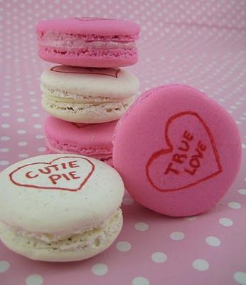 Conversation #Heart #Macarons - #Valentine's Day: Heart Macaroon, Valentines Parties, Heart Cookies, French Macaroons, Valentines Day, Valentines Food, Candy Desserts, Valentines Treats, Birthday Ideas