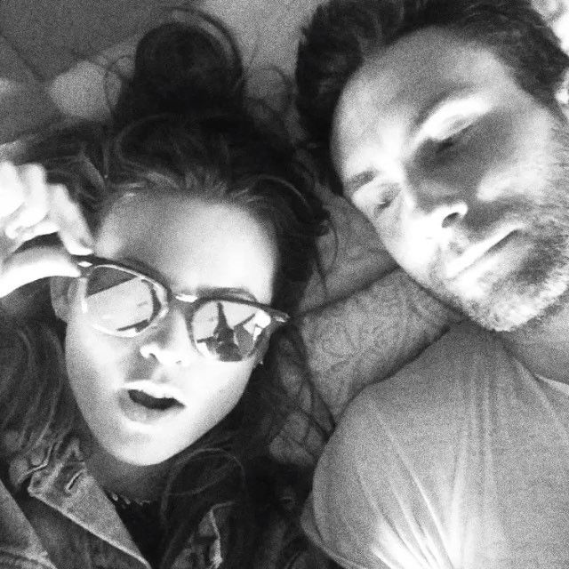 "Pin for Later: Adam Levine and Behati Prinsloo's Romance Is as Perfect as a Sunday Morning  Behati captioned this cute video, ""we do stuff . . ."""