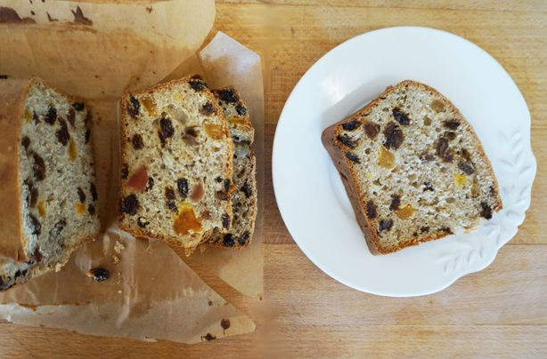 Weetabix cake recipe -  Replace glace cherries with nuts and mixed spice with cinnamon?