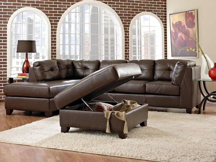 Marvelous Brown Sectional Sofa Cheap Sleeper Leather Upholstered Design