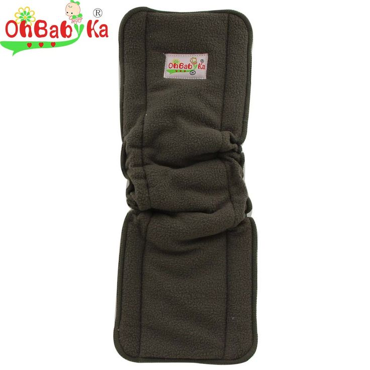 Ohbabyka Reusable 5-Layers Charcoal Bamboo Diaper Insert with Elastic Washable Cloth Diapers Baby Nappies Inserts Couche Lavable