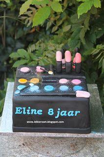 lekker zoet: make up taart voor Eline 8 jaar