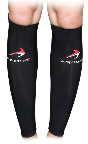 Calf Compression Sleeve (1 Pair) - Best to Guard Against Shin Splints - Men's and Women's Black Compression Leg Sleeves for Running, Jogging, Walking, Marathon and Fitness Athletes - Comfortable, Breathable, Good Circulation for Travel - Great Reviews CompressionZ,http://www.amazon.com/dp/B00CCDDVQI/ref=cm_sw_r_pi_dp_l5TCtb1WAZBZ1DJE