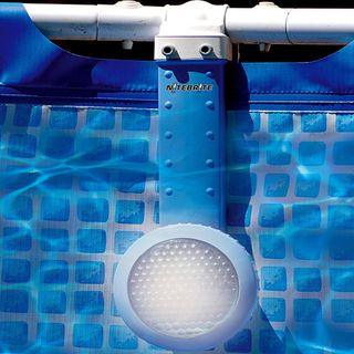 @Overstock - Swim safely after hours with this plastic above-ground pool light. Suitable for most sizes of pools, this light features a long-life halogen bulb and a 28-foot cord. It attaches easily and quickly to the rim of the pool and is UL/CETL-certified.http://www.overstock.com/Sports-Toys/Swim-Time-Nitelighter-Above-Ground-Pool-Light/5748718/product.html?CID=214117 $29.99