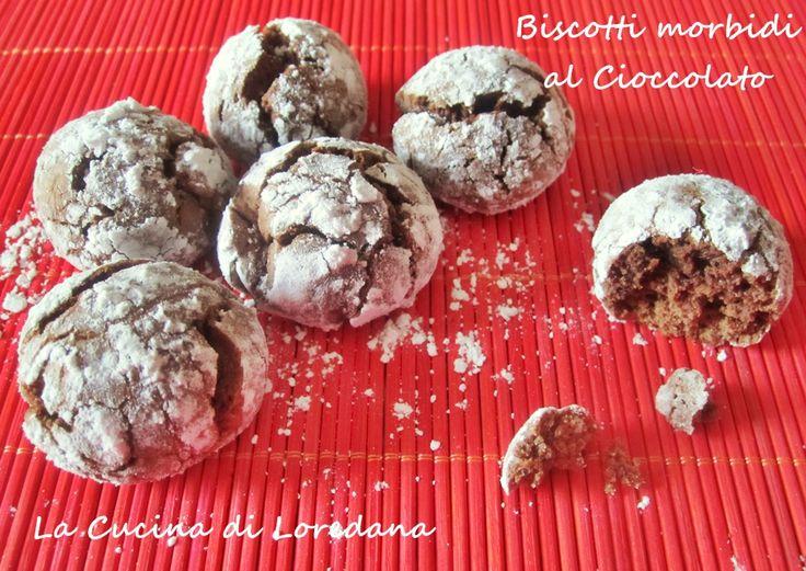 Biscotti morbidi al cioccolato - Ricetta golosa