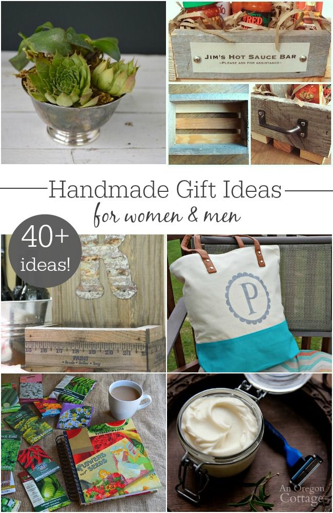 40+ Handmade Gift Ideas for all the women and men on your list. These aren't your regular ideas, either - they are pretty cool and unique!