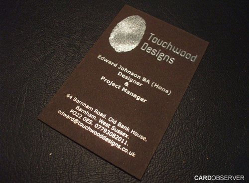 40 Attractive Foil Stamped Business Cards
