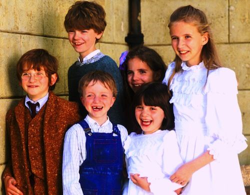 "the kids from the movie ""Nanny McPhee"". Look there's Thomas"