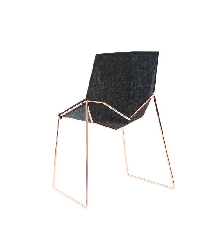 Recycled felt chair NICO LESS - @beatnikchair