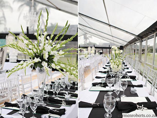 Carmen Roberts Photography, Maurice & Zama, wedding decor ideas - black and white.