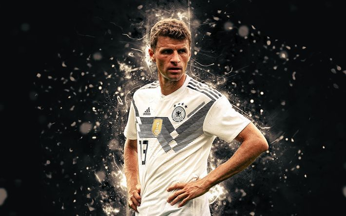 Download Wallpapers 4k Thomas Muller Abstract Art Germany National Team Fan Art Muller Soccer Footballers Neon Lights German Football Team Besthqwall Thomas Muller Germany Football Team Football Pictures