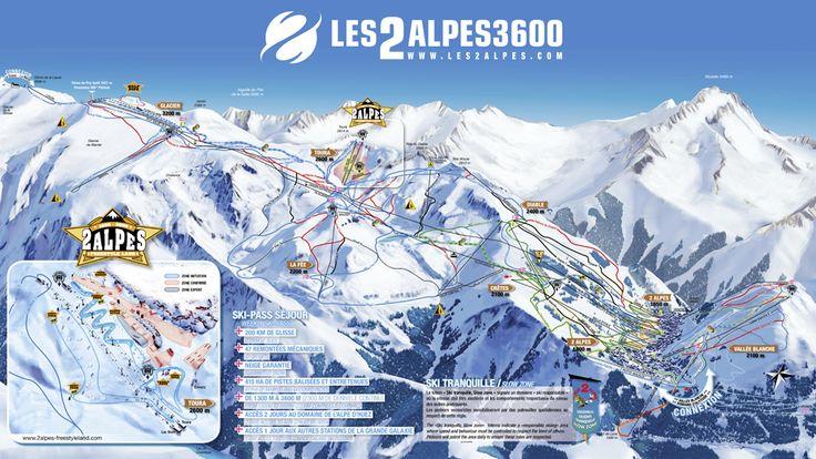 Plan des piste Les 2 Alpes.  http://www.les2alpes.com/