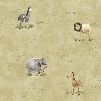 "York Kids IV Safari33' x 20.5"" Wildlife Wallpaper"