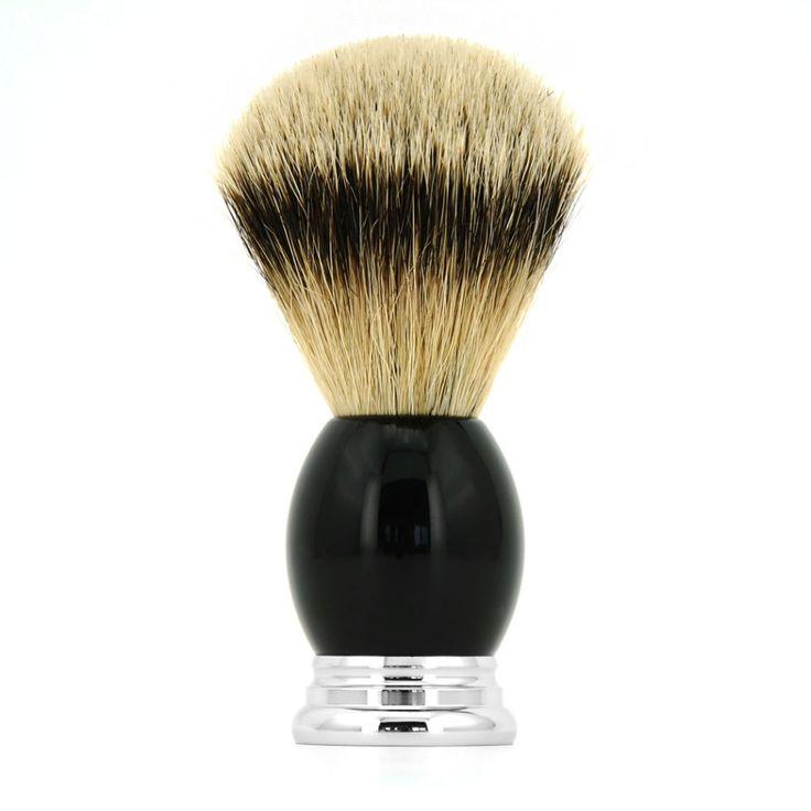 ZY Men 100% Silvertip Badger Hair Shaving Beard Brush Barber Shave Beard Soap Cream Razor Brushes Bathroom #Affiliate
