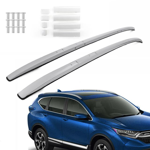 Pair Silver Aluminium Roof Rack Rail Fits For Honda Crv Cr V 2017 2018 2019 In 2020 Roof Rack Honda Crv Aluminum Roof
