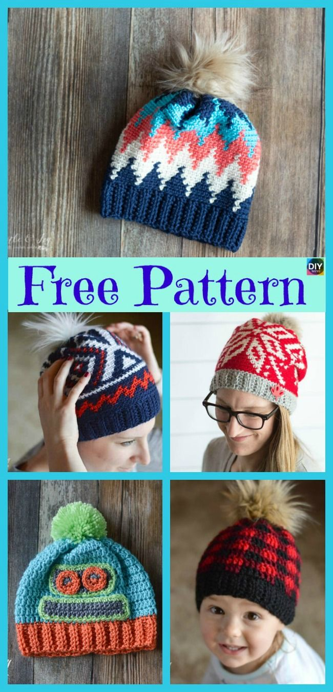Unique Crochet Chevron Hat Free Patterns Hatsglovesetc