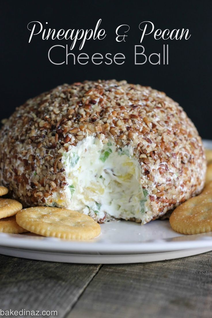 The Best Cheese Ball! Perfect for any party. #cheese #ball #appetizer bakedinaz.com