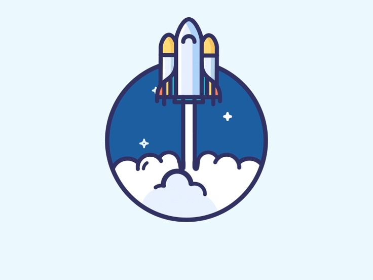 Rocket Animation by Justas Galaburda #Design Popular #Dribbble #shots