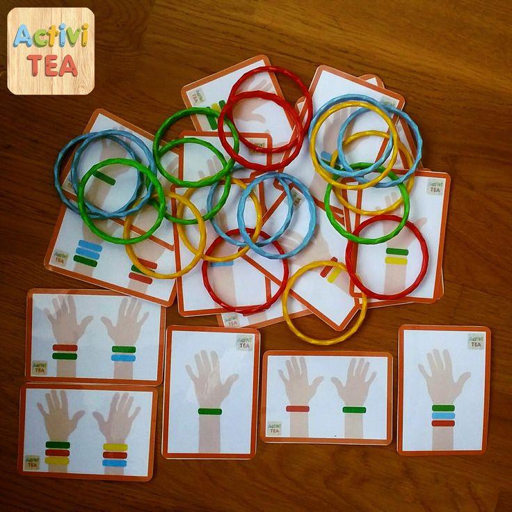 El juego de las pulseras por sólo 5€ con 18 cartas y 10 pulseras de colores