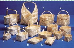 Pärekoreja / Shingle baskets. All sizes and shapes for different types of collecting or storaging. These days it can be difficult to get the material (we're in Finland so not the wood, but ready-made shingles;) and usually only very old people have the knowledge on how to prepare these. But if necessary it is also possible to learn the technique at local folk high schools.