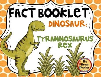 This nonfiction book about Tyrannosaurus Rex is a great resource to use for doing a research project on dinosaurs with your pre-k/kindergarten class. Included in this product is a black and white informational book about Tyrannosaurus Rex, a worksheet for