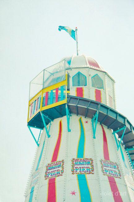 Carnival Photography Brighton Pier Helter Skelter in by violetdart