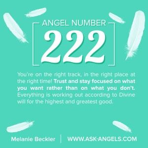 This angel number means you're on the right track, in the right place at the right time!   Trust and stay focused on what you want rather than on what you don't. Everything is working out according to Divine will for the highest and greatest good.  Learn more about the meaning of seeing 222 here:   http://www.ask-angels.com/spiritual-guidance/angel-number-222/  #angelnumbers #rightdirection #path #focus