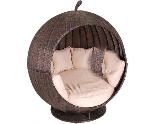Outdoor Wicker Day Bed - Apple