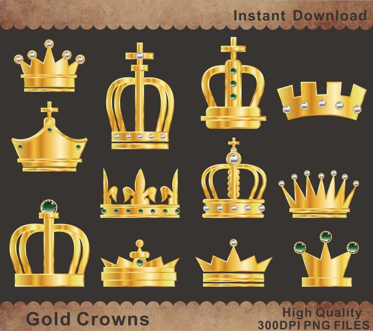 Partido de oro coronas Clipart para imprimir de por BHdigitalBox