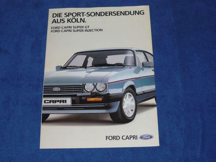 Ford Capri 2.8i Injection Special Super Injection Rare German Brochure Prospekt