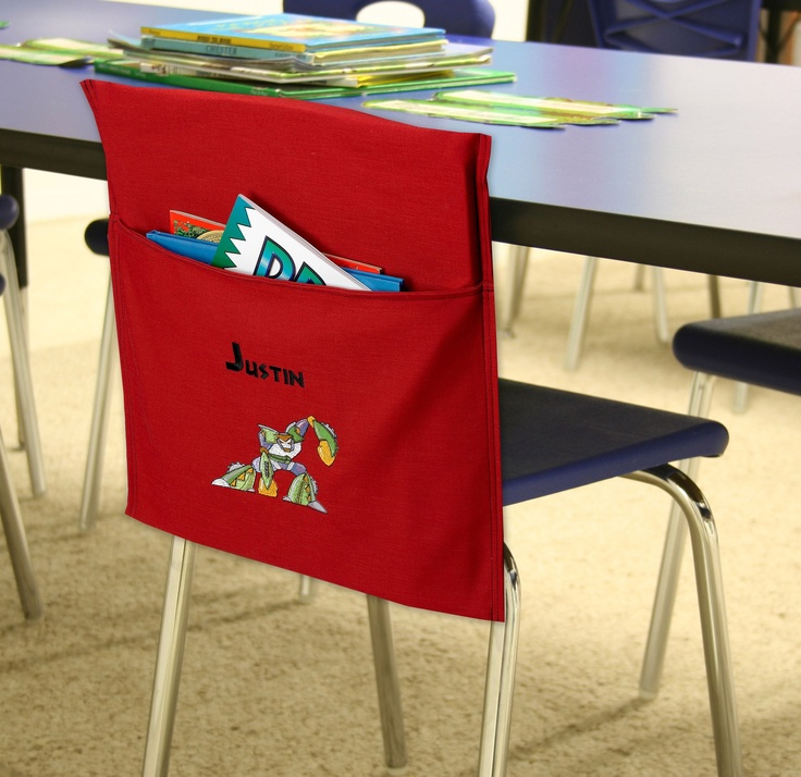 Chair Cover with pocket...how handy and fun is this...desk chair...computer...kitchen...sunday school