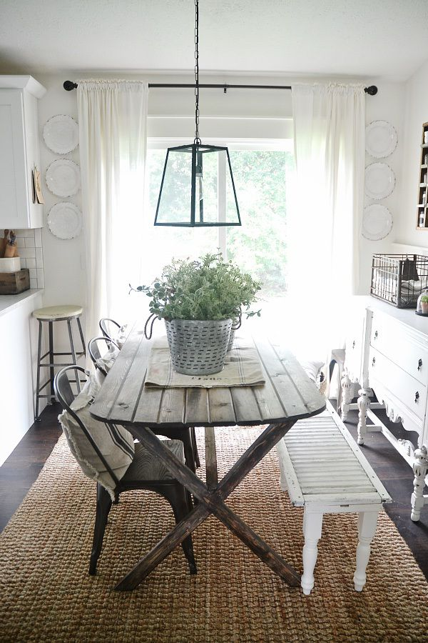 DIY Primitive Dining Room Table