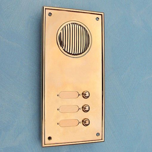 »Klingelplatte MILANO einreihig« von Replicata - Außenmaße Klingelplatte 140 x 290 mm - Replikate