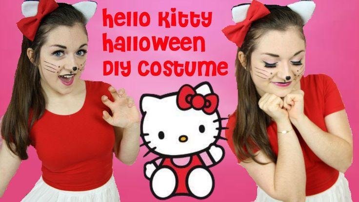 DIY Hello Kitty Halloween Costume, Makeup  Hair!