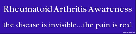 Custom Bumper: Rheumatoid Arthritis Awareness / the disease is invisible...the pain is real