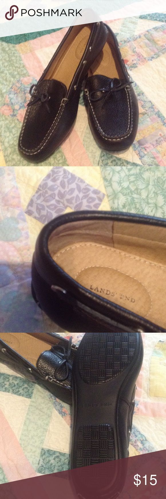 Re-posting NWOT women's driving loafers, 11D These are great looking shoes.  They are leather-look moccasin-style loafers.  They are marked 11D; however, they fit more like a narrow. Lands End Shoes Flats & Loafers