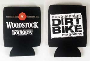 Who says you can't mix Bourbon and Bikes! Woodstock Dirt Bike Magazine cooler - The Perfect Mix.
