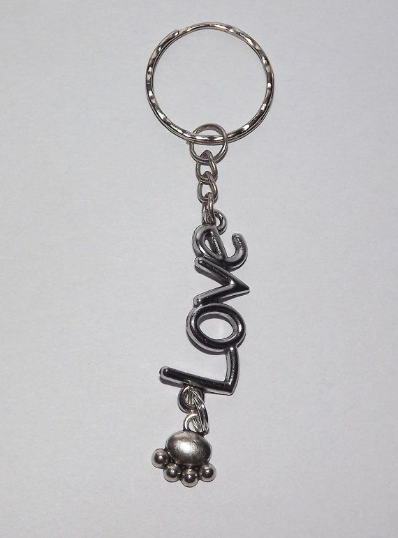 B.Long Love Paws Keyring - Free UK P&P - Dog / Animal / Love /  Dog-Lover / Funky / Cute / Unusual Gift / Perfect Gift for Animal Lover