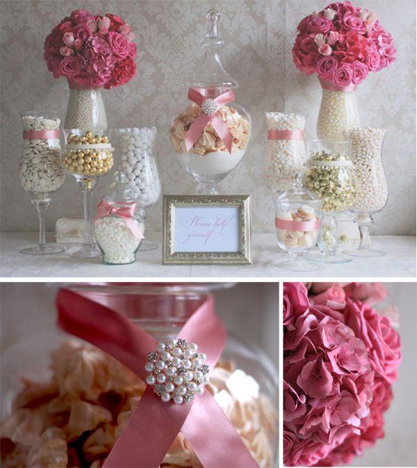 Leonie Gordon London Luxury Pink & Gold Vintage Candy Buffet xx