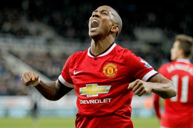 Bad news for Manchester United and Louis van Gaal - Ashley Young is a doubt for Sunday's clash with Tottenham after suffering a knock against Arsenal