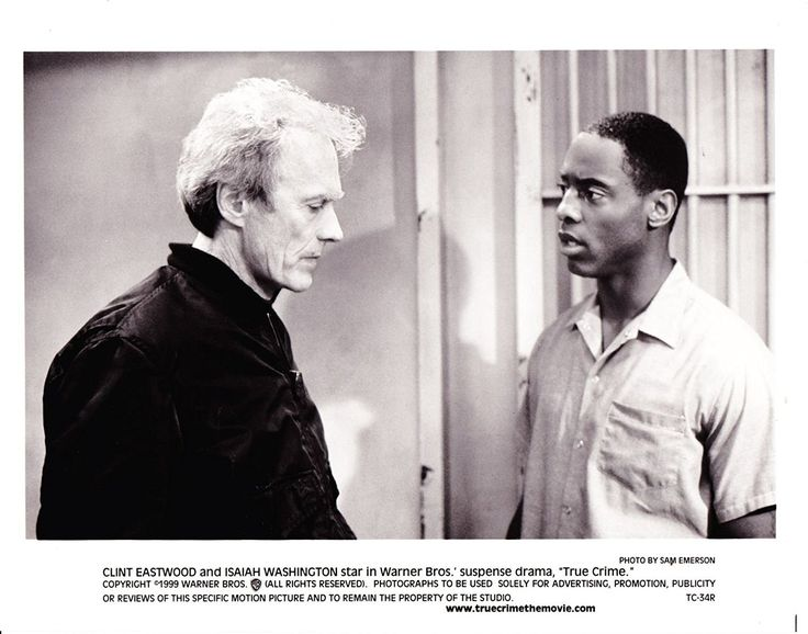 Clint Eastwood \ Isaiah Washington In True Crime 1999 Movie - qualität nolte küchen