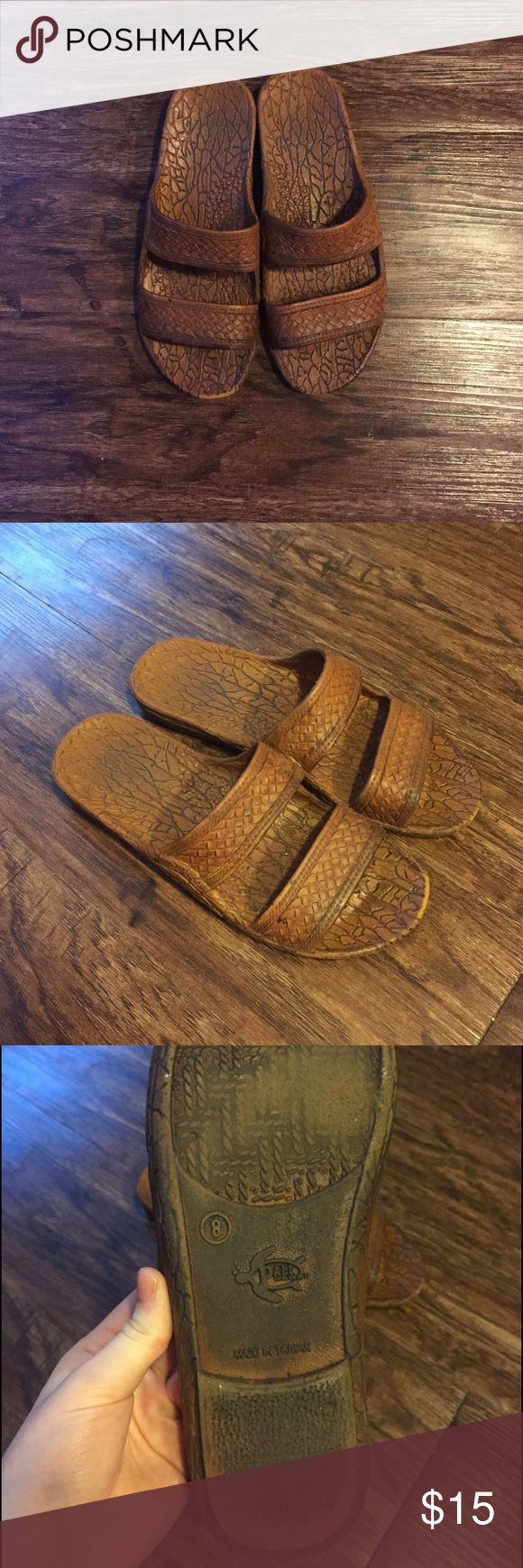 Jesus Sandals 🙏🏻 Slight wear as shown - Fit slightly small for an 8, I wear a 7.5 and they were perfect - Very cute for the beach or casual summer shoes - Not Madewell!! Madewell Shoes Sandals