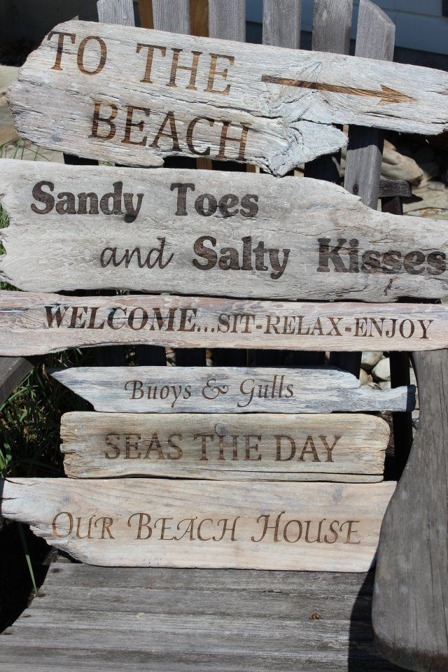 Beach Signs with laser engraver???