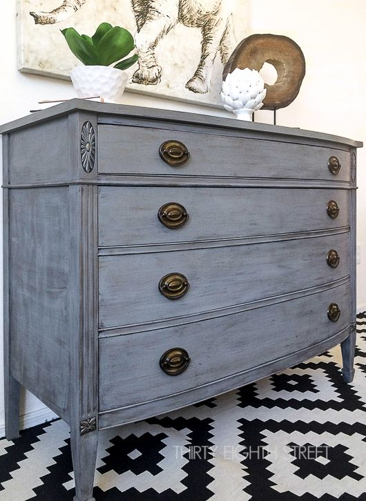Thirty Eighth Street's tutorial, tips and tricks to get an easy DIY Restoration Hardware look. A step by step guide that walks you through how to dry brush furniture and create your own Restoration Hardware knock off!