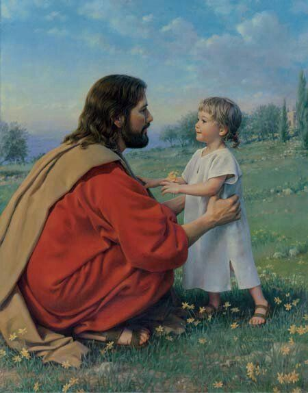 Jesus speaks to each of us in a way we can understand. I love the innocence of this child looking into the face of love.