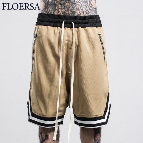 3aee531a66857 FLOERSA Shorts Men Fashion Loose Sweatpants Casual Zipped Pocket Bermuda